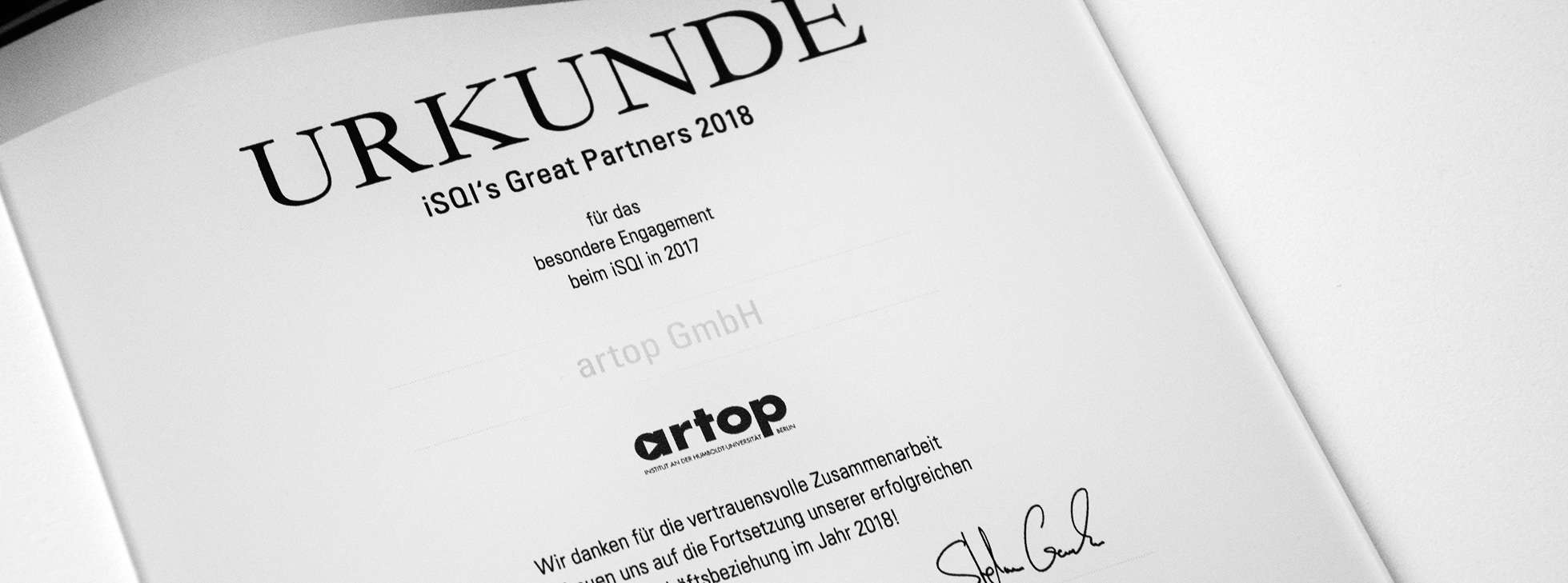 artop - Great Partner 2017