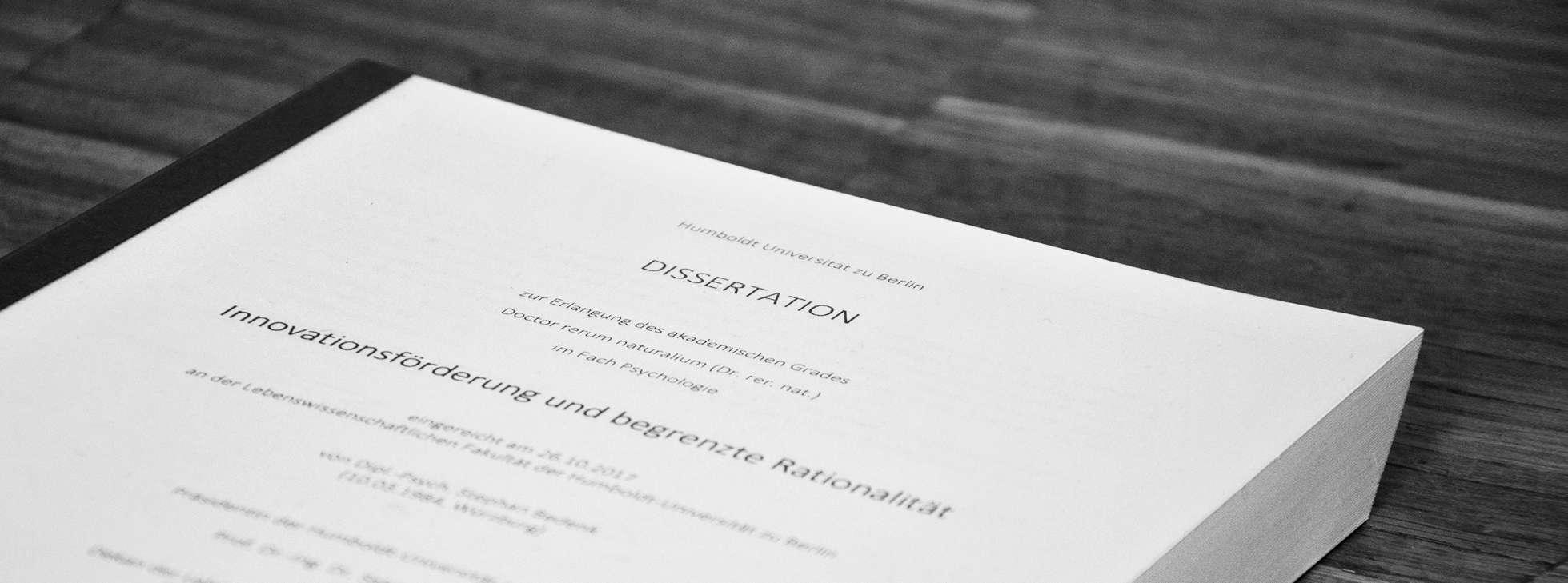 Dissertation Bedenk